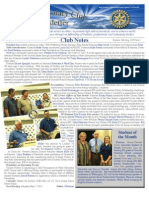 Rotary Newsletter April 30