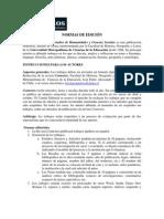 NORMAS DE REDACCIÓN REVISTA CONTEXTOS