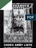 Warhammer 40,000 - Codex Army Lists (1993)