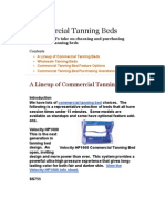 A Professional's take on choosing and purchasing commercial tanning beds