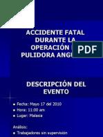 Accidente falta pulidora
