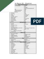 Beech Baron58 Checklist VAL