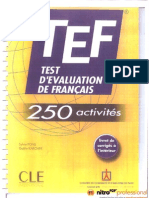 Test d Evaluation de Francais 250 Activit s
