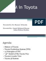 TQM in Toyota