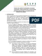 NORMAS FORMULACIÓN PROYECTOS DE GRADUACIÓN