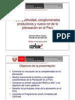 Nuevo rol de la planeación en el Perú - GErmán Alarco Tosoni