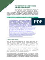 Guia Para La de Prevencion de Riesgos Laborales en Oficinas