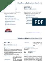 Nasa Umbrella - HANDBOOK (1104)
