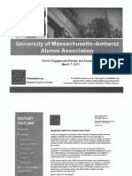 UMass Alumni Engagment Review and Assessment