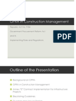 GPRA in Construction Management