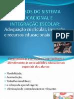 RECURSOS DO SISTEMA EDUCACIONAL E INTEGRAÇÃO ESCOLAR