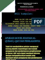 Aplikasi Model Khatam Al-quran J-qaf Dan Penilaiannya