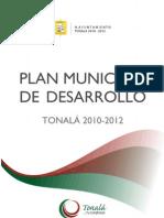 Plan Municipal de Desarrollo Tonala 2010