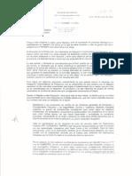 Carta de renuncia de viceministra de Pesquería Patricia Majluf
