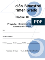 1er Grado - Bloque 3 - Proyecto 2