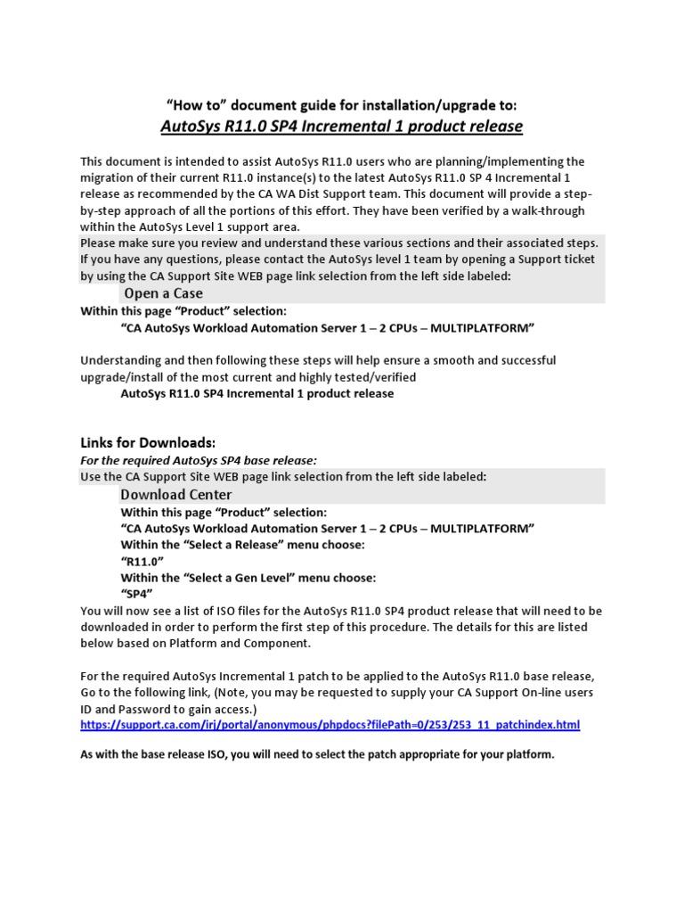AutoSys R11SP4 Cookbook | Superuser | Linux
