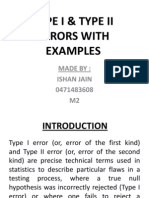 Type i & Type II Errors With Examples