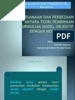 Persamaan Dan Perbezaan Antara Teori Pembinaan Kurikulum Model