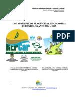 Uso de Plaguicidas en Colombia 2004 2007