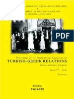 Fuat Aksu (ed.), Proceedings of the International Conference on Turkish-Greek Relations
