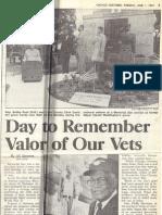 1993 - June 1 - Sun-Times p3 - David Speaking at Memorial Day Serice