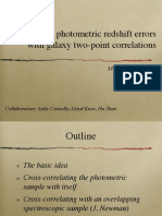 Constraining photometric redshift errors with galaxy two-point correlation functions