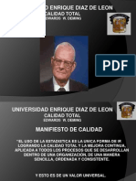 Edwards Deming Calidad