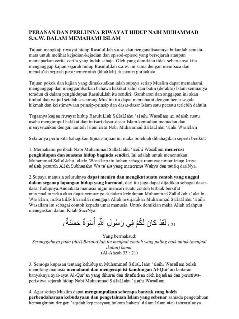 Isi2 Peranan Nabi Muhammad S A W