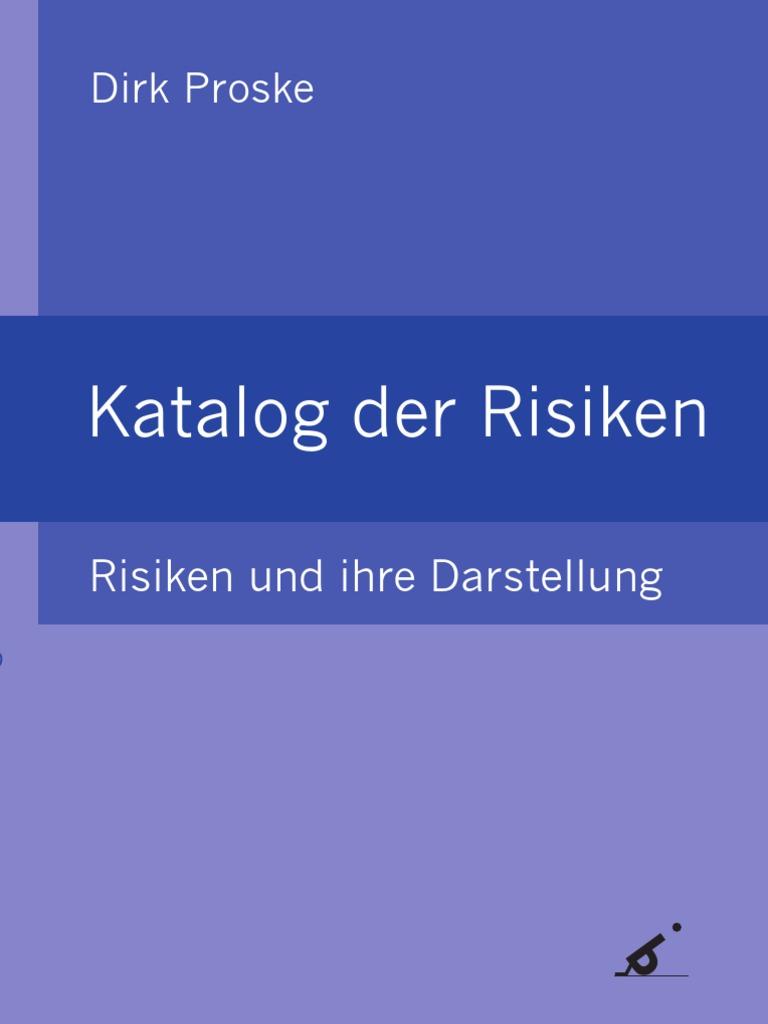 Dirk Proske - Katalog Der Risiken