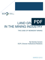 ECPI - LAND GRABBING  IN THE MINING INDUSTRY