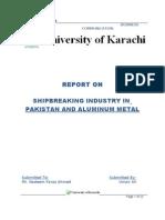 Ship Breaking Industry in Pakistan