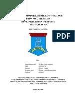 Kontrol Motor Listrik Low Voltage Pada Mcc 01ee1128a Di Pt. Pertamina (Persero) Ru IV Cilacap
