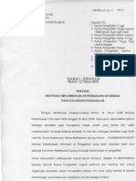 Surat Edaran_6 Thn 2010_ Tentang Instruksi Implementasi Keterbukaan Informasi Pada Kalangan Pengadilan