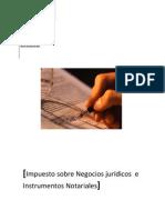 Impuesto sobre Negocios jurídicos  e Instrumentos Notariales