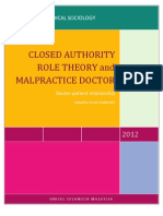 Closed Authority Role Theory and Malpractice Doctior