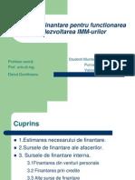 Surse de Finantare Pentru Function Area Si Dezvoltarea IMM-Urilor