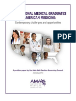 IMGs in American Medicine - Contemporary Challenges and Opportunities