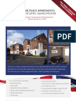 Park Place Brochure. Discounted property in Manchester with non status finance
