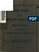 J. Graham Cruickshank--Black Talk--Being Notes on Negro Dialect in British Guiana, With Inevitably) a Chapter on the Vernacular of Barbados (1916)