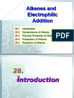 Alkenes and Electrophilic Addition