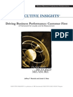 Framework for Customer Loyalty and Measurement Whitepaper Old