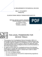 FDA Clinical Trial Requirements for Medical Devices