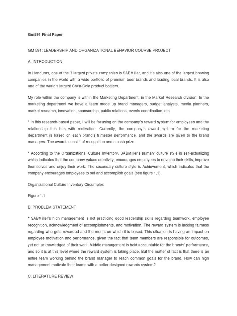 gm591 term paper