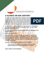 A Glance on Gsk History