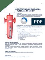Separator Centrifugal Cu Evacuare Automata Tip SC-EA