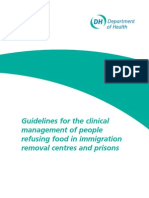 DoH Guidelines for the clinical management of people refusing food in immigration removal centres and prisons