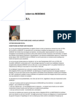 Déclaration du Président du MODEMAS 2007