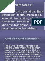 Methods of Translation