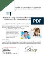 Campamento de Investigación Científica en UPR Aguadilla