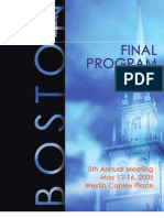 FOCIS Program May 2005
